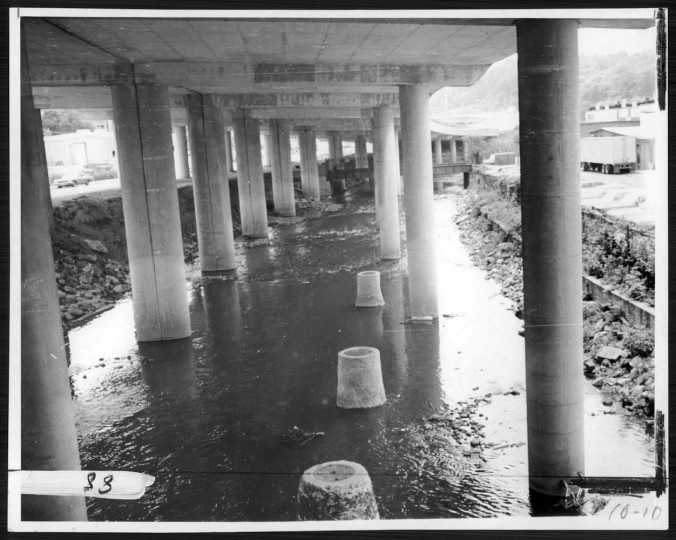 The falls after the expressway intersected the city, June 9, 1972. (Sun file photo)