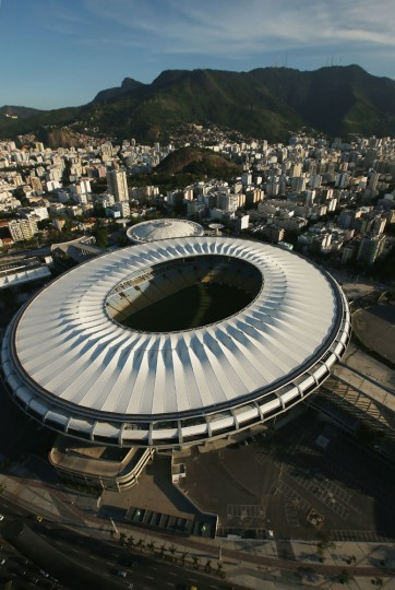 Maracana Stadium, a Rio 2016 Olympic Games venue, is shown on February 24, 2015 in Rio de Janeiro, Brazil. The city of Rio continues to prepare to host the upcoming Olympic Games which kickoff on August 5, 2016. (Photo by Mario Tama/Getty Images)