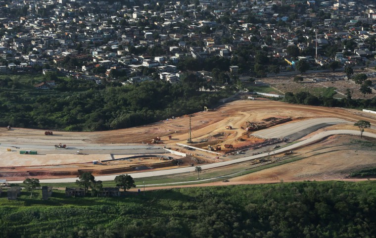 Work continues on the Deodoro Olympic Park, a Rio 2016 Olympic Games venue, on February 24, 2015 in Rio de Janeiro, Brazil. The city of Rio continues to prepare to host the upcoming Olympic Games which kickoff on August 5, 2016. (Photo by Mario Tama/Getty Images)