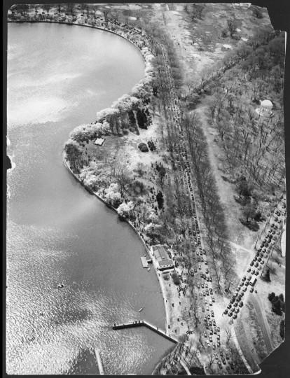 April 16, 1937: Aerial view of the Tidal Basin.
