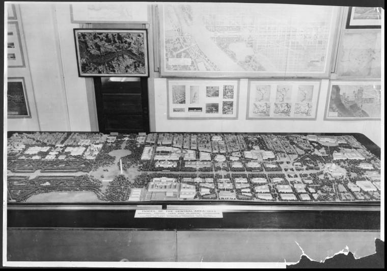 Jan. 8, 1935: A model of plans for Washington D.C.