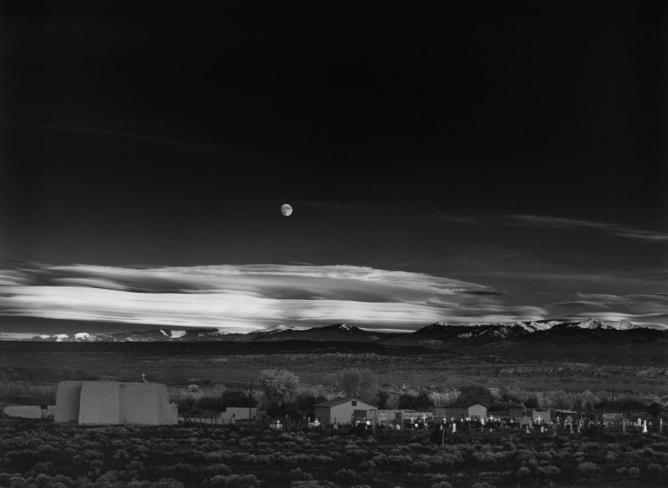 Moonrise, Hernandez, New Mexico, 1941. (The Lane Collection courtesy of the Museum of Fine Arts, Boston. Copyright 2007 The Ansel Adams Publishing Rights Trust)