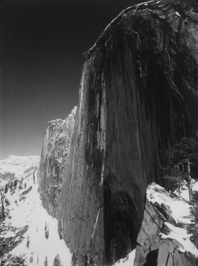 Monolith, The Face of Half Dome, Yosemite National Park, 1927. (The Lane Collection courtesy of the Museum of Fine Arts, Boston. Copyright 2007 The Ansel Adams Publishing Rights Trust)