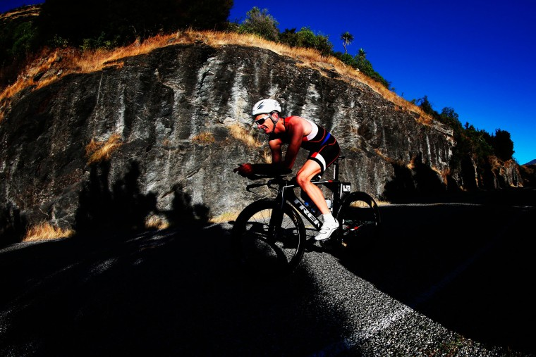 Chris Sanson of New Zealand competes during Challenge Wanaka in Wanaka, New Zealand. (Hannah Peters/Getty Images AsiaPac)