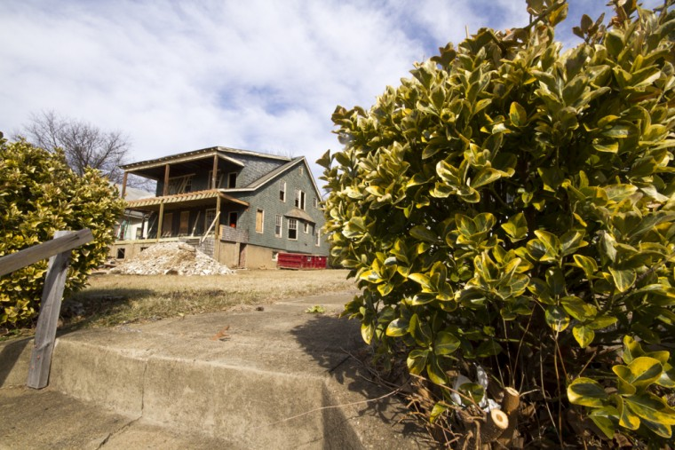 Signs of rehabilitation crop up around the neighborhood with new construction on older lots, or with older vacant homes being bought and rehabilitated. (Kalani Gordon, Baltimore Sun, Feb. 2015)