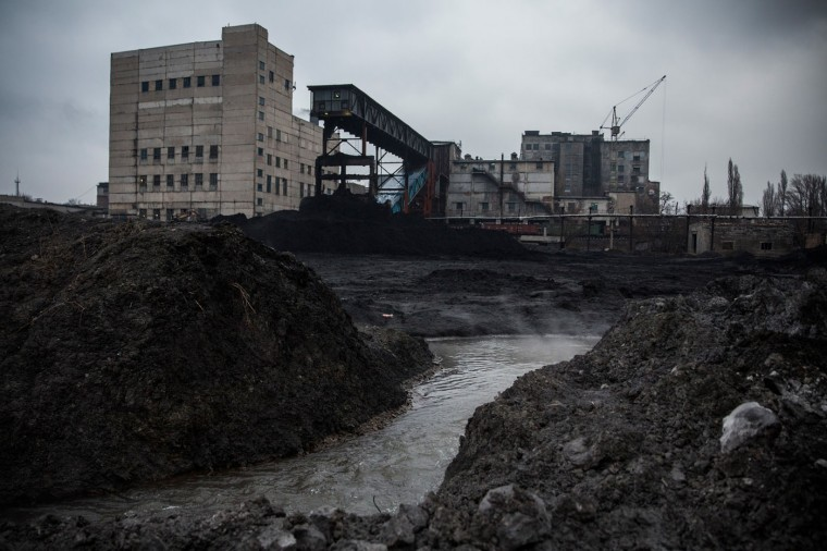 Zasyadtko mine is seen on March 4, 2015 in Donetsk, Ukraine. (Photo by Andrew Burton/Getty Images)