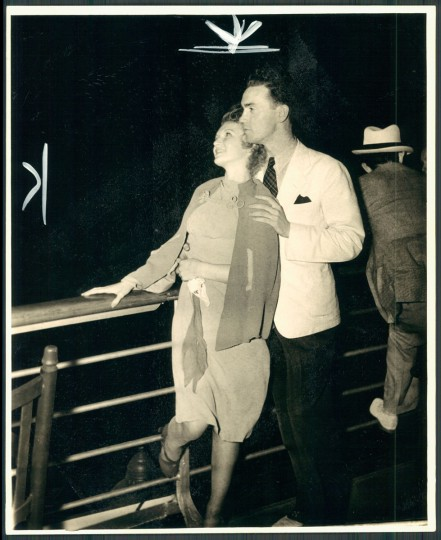 June 19, 1938 - Neal Lee and Miss Cecilia Yvone Moylan on a moonlight excursion aboard an old bay liner. (Baltimore Sun archives)