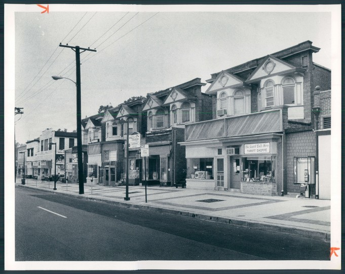 August 16, 1982 - Improved shops in the 4700 block of Liberty Heights avenue. Photo by Ellis J. Malashuk, Baltimore Sun