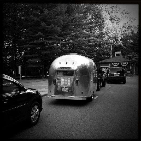 "The first outing with ""Ethel,"" the 1963 Airstream Bambi, at Cunningham Falls State Park in the Catoctin mountains. Just over a year later we purchased a second Airstram, a larger 1957 Caravanner, that is under restoration. (Christopher T. Assaf/Baltimore Sun)"