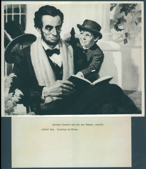 Lincoln with his son, Thomas.