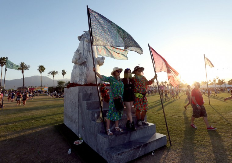 A Festo Vitae art installation by The Haas Brothers is seen during day 1 of the 2015 Coachella Valley Music And Arts Festival (Weekend 2) at The Empire Polo Club on April 17, 2015 in Indio, California. (Photo by Mark Davis/Getty Images for Coachella)