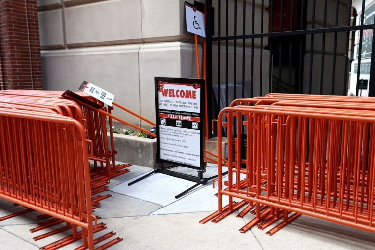 A welcome sign stands off to the side before the Baltimore Orioles play the Chicago White Sox at an empty Oriole Park at Camden Yards on April 29, 2015 in Baltimore, Maryland. Due to unrest in relation to the arrest and death of Freddie Gray, the two teams played in a stadium closed to the public. Gray, 25, was arrested for possessing a switch blade knife April 12 outside the Gilmor Houses housing project on Baltimore's west side. According to his attorney, Gray died a week later in the hospital from a severe spinal cord injury he received while in police custody. (Photo by Patrick Smith/Getty Images)