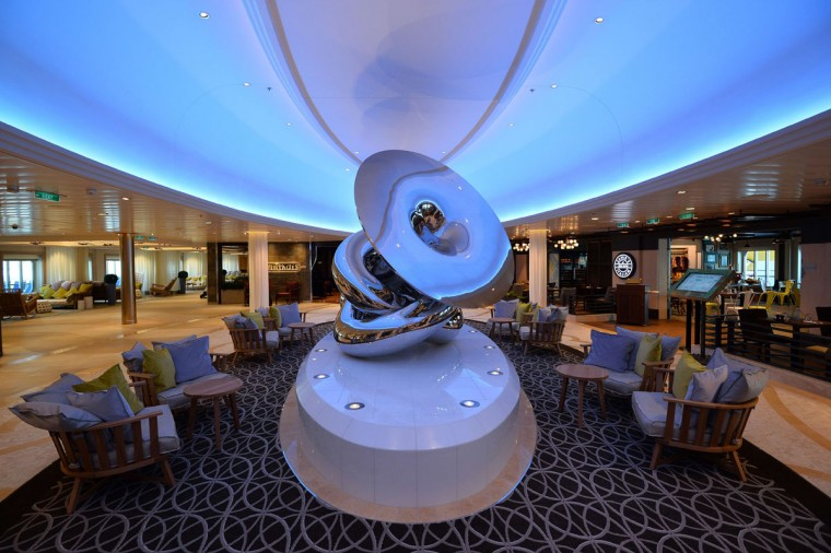 An art installation on the Royal Caribbean's latest cruise liner 'The Anthem Of The Seas', a 4,905-passenger ship which is docked in Southampton on April 20, 2015. (GLYN KIRK/AFP/Getty Images)