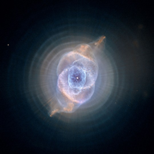 The Cat's Eye Nebula shown in a Hubble image. (NASA, ESA, HEIC, Hubble Heritage Team via AP)
