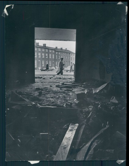 1969: Rioting started near this rubble-strewn area in the 800 block of N. Gay street a year ago. many of the signs of that period of burning and destruction remain in the area.