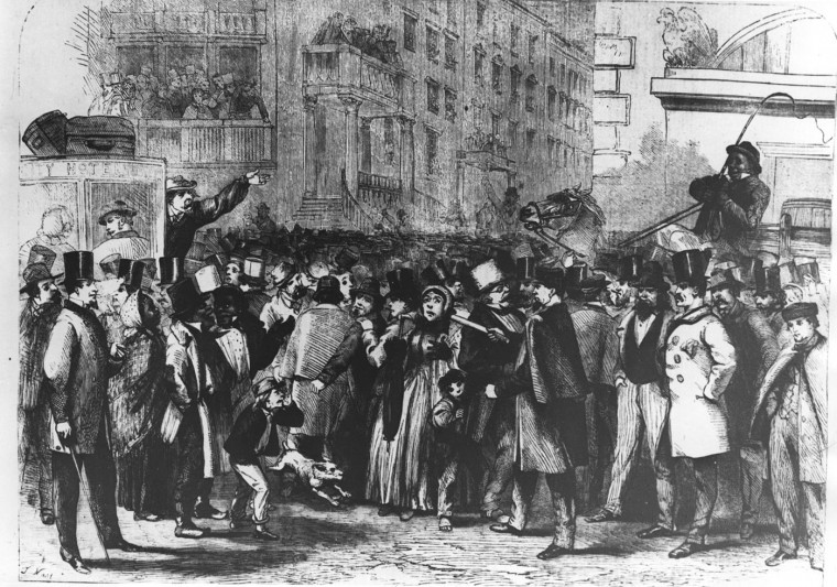 Mr. Lincoln and the Baltimore Barber -- An on-the-spot drawing by Thomas Nast of the crowd in Baltimore's Calvert Station waiting to greet Abraham Lincoln's regularly scheduled train at about noon Saturday, February 23, 1861. This drawing appeared in the London Illustrated News of March 23, 1861. Nast was the cartoonist who later became famous for his bitterly satirical cartoons of New York City's Boss Tweed. Photo source: Enoch Pratt Library. File photo.