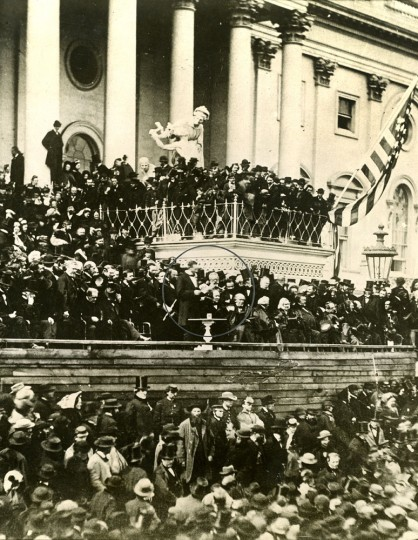 WASHINGTON, D.C. -- March 4, 1861 -- Abraham Lincoln Inauguration. Photo by unknown/Wide World Photos file photo
