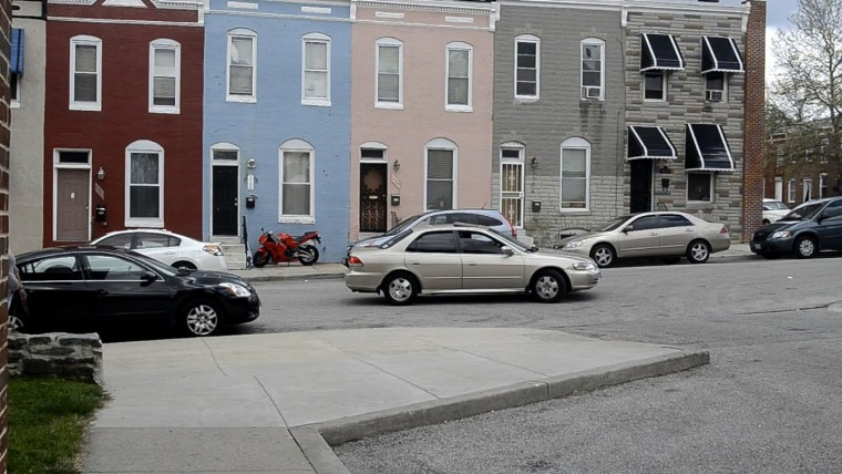 This sidewalk adjacent to Gilmor Homes is where Freddie Gray was taken into custody by Baltimore Police. Gray was injured at some point during the confrontation and died a week later. (Amy Davis/Baltimore Sun)