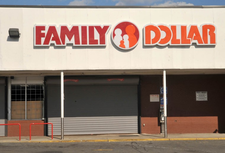 Family Dollar was one of about five businesses on York Road near Woodbourne Avenue in Govans that was looted on Monday night, as rioting spread in the aftermath of the Freddie Gray protests. (Amy Davis/ Baltimore Sun)