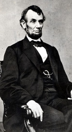 Abraham Lincoln, file photo scanned on 02/08/02