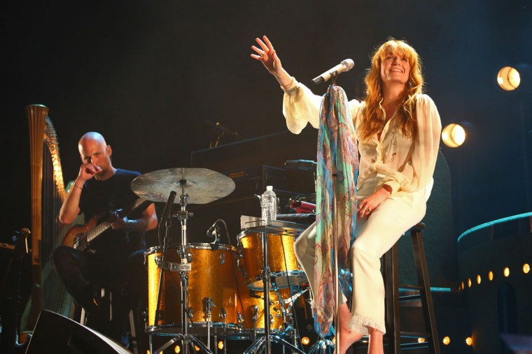 Florence and the Machine performs at the Coachella Music and Arts Festival - Weekend 2, on Sunday, April 19, 2015, in Indio, Calif. (Photo by Zach Cordner/Invision/AP)