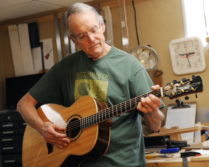 MacCubbin strums a chord. (Jon Sham/BSMG)