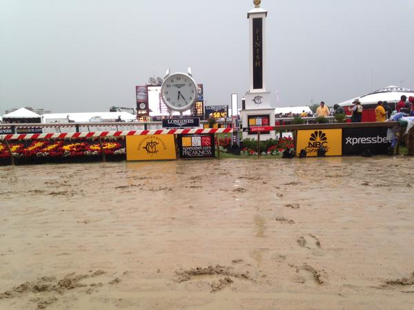 Live look at the Preakness 2015 finish line. (Colin Campbell/Baltimore Sun)