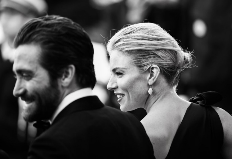 Sienna Miller and Jake Gyllenhaal attend the opening ceremony and premiere of 'La Tete Haute' during the 68th annual Cannes Film Festival on May 13, 2015 in Cannes, France. (Photo by Andreas Rentz/Getty Images)