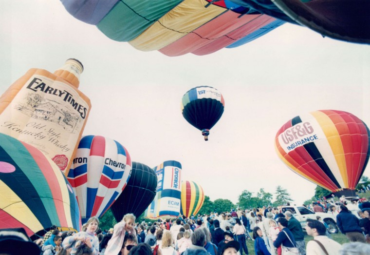 Preakness Balloon Race, 1990. (Perry Thorsvik/Baltimore Sun)
