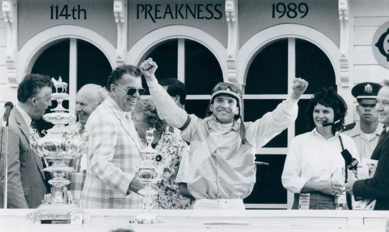 Preakness winner in 1989. (Amy Davis/Baltimore Sun)