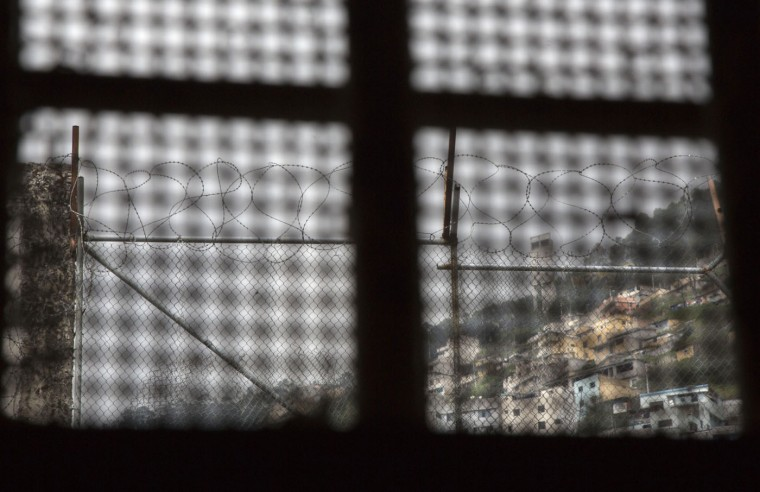 This April 14, 2015 photo shows the view a prisoner had from the window inside his cell, at the now empty Garcia Moreno Prison during a guided tour for the public in Quito, Ecuador. While its high walls separated the prisoners from society outside, they made and respected their own laws, and their own authorities, on the inside. (AP Photo/Dolores Ochoa)