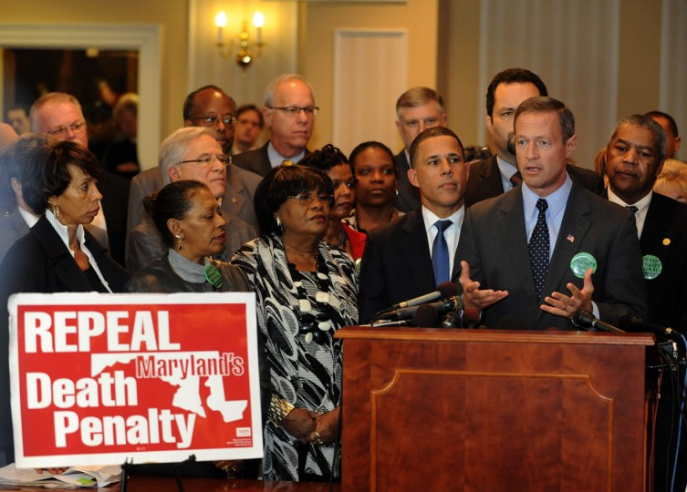 Gov. Martin O'Malley speaks at a death penalty repeal press conference at the Senate Judicial Proceedings Committee. Photo by Algerina Perna