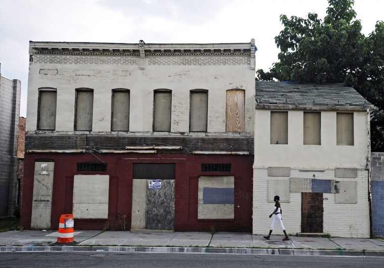 7/23/08: 2100 block of Pennsylvania Avenue -- The former Sphinx Club, a members-only club opened in 1946, for Baltimore's elite African-American. The club, which closed in 1992, represented a historic piece of the city's African-American heritage and culture. (Kenneth K. Lam/Baltimore Sun)