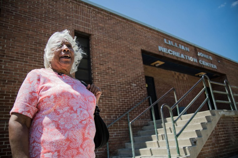 Dr. Helena Hicks stands outside the Lillian S. Jones Recreation center in the Sandtown-Windchester neighborhood on May 4, 2015 in Baltimore, Md. Hicks' sister Lillian Jones founded the recreation center near the Gilmor Homes. (Jessica Koscielniak/McClatchy DC/TNS)