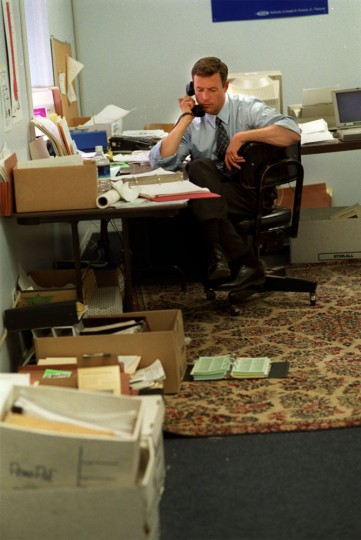 Candidate for mayor, Martin O'Malley in his office fundraising. Jed Kirschbaum, Staff