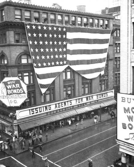 File Photo - Hockschild Kohn & Co. Banner V.E. Day 5/8/45, Baltimore, Md.