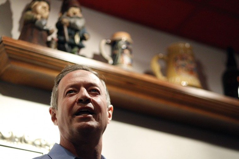 Democratic presidential candidate, former Maryland Gov. Martin O'Malley, speaks during a campaign stop Sunday, Jan. 31, 2016, in Waterloo, Iowa. (Matthew Putney/The Courier via AP)