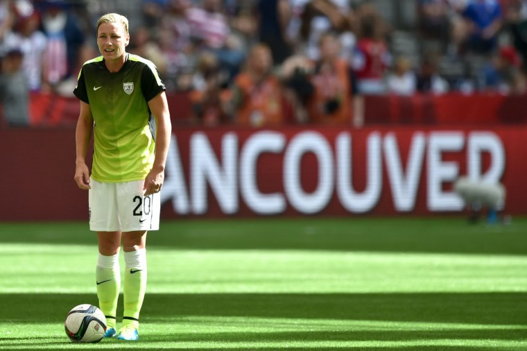 Abby Wambach #20 of the United States warms up before taking on Nigeria in the Group D match of the FIFA Women's World Cup Canada 2015 at BC Place Stadium on June 16, 2015 in Vancouver, Canada. (Rich Lam/Getty Images)