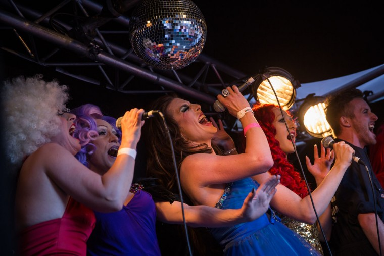 Cabaret artists perform at a Pride in London event on June 27, 2015 in London, England. Pride in London is one of the world's biggest LGBT+ celebrations as thousands of people take part in a parade and attend performances at various locations across the city. (Rob Stothard/Getty Images)