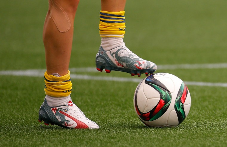 Jessica Samuelsson of Sweden warms up prior to the FIFA Women's World Cup Canada 2015 Group D match between Sweden and Nigeria at Winnipeg Stadium on June 8, 2015 in Winnipeg, Canada. (Photo by Kevin C. Cox/Getty Images)