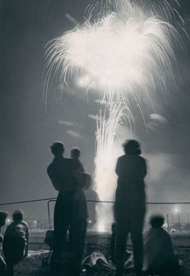 Fireworks at North Point High School attracted attention of young and old as feature of the Fourth. (Weyman Swagger/Baltimore Sun, 1968)