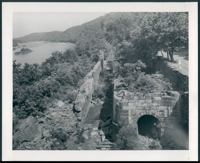 Old canal lock on the Chesapeake and Ohio canal, opposite of Harpers Ferry. (A. Aubrey Bodine/Baltimore Sun, 1943)