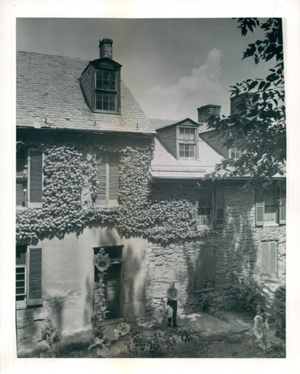 The Harper House - oldest in Harpers Ferry. Built of stone in 1780 by Robert Harper. (A. Aubrey Bodine/Baltimore Sun, 1943)
