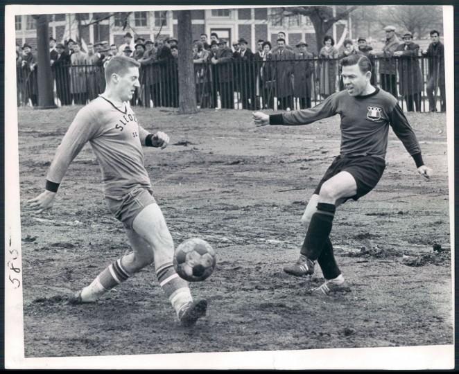 A Locust Point soccer team faces an Italian club on Feb. 11, 1963. (Baltimore Sun photo by Paul Hutchins)