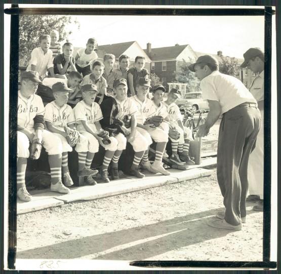 Little League Baseball team, 1957. (Ralph Dohme/Baltimore Sun)
