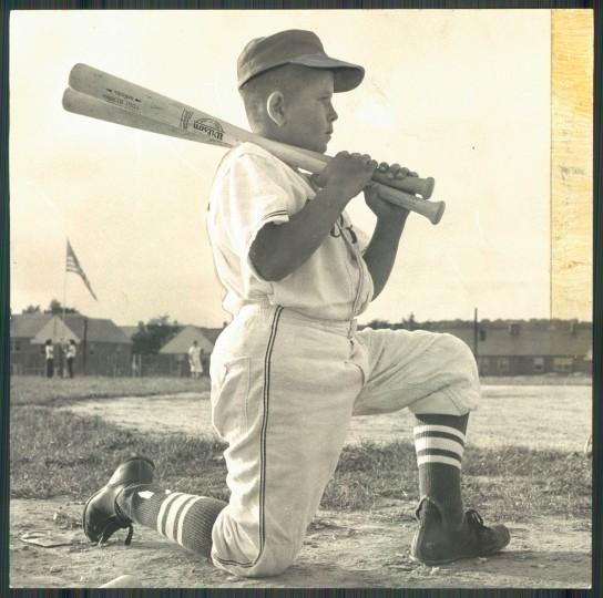 Little League Baseball, July 17, 1957. (Ralph Dohme/Baltimroe Sun)