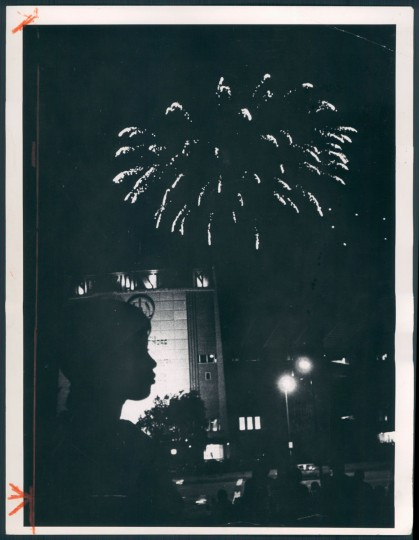 Fireworks at Memorial Stadium, 1971. (Baltimore Sun archives)