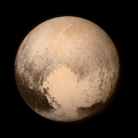 Pluto, from New Horizons (NASA Twitter)