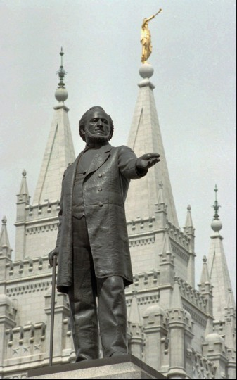 July 24, 1847: Brigham Young, who was president of the Church of Jesus Christ of Latter Day Saints, also known as the Mormon Church, reached the Salt Lake Valley on July 24, 1847 with a group of Mormon settlers. The date is now known as Pioneer Day in Utah. (AP Photo/Douglas C. Pizac)