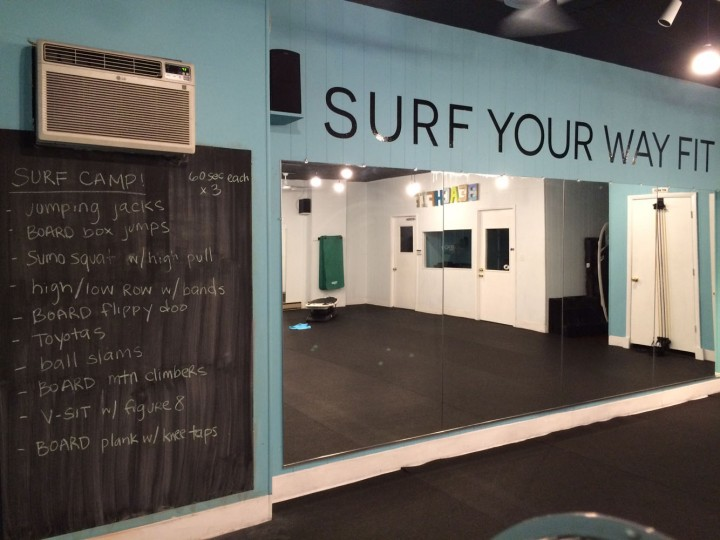 After work, it's time to head back to the gym for another class. This one is Surf Camp, where we mix the Surfset boards into a bootcamp cycle.
